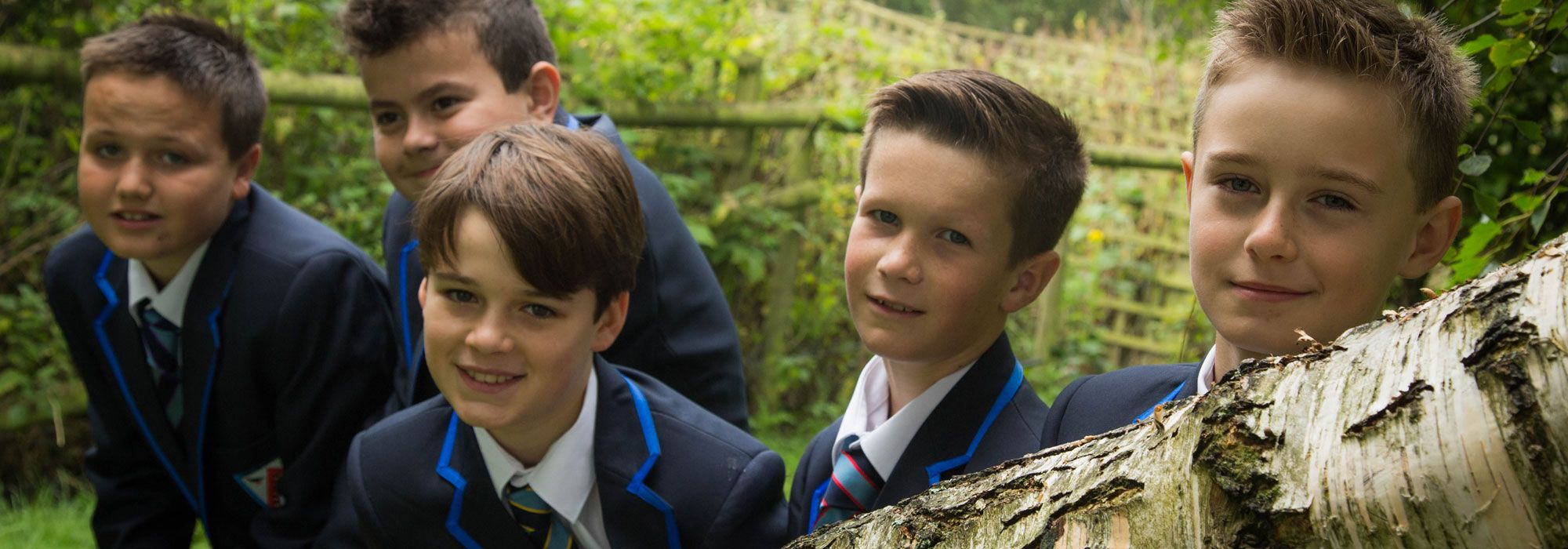 Young male pupils at The Maelor School