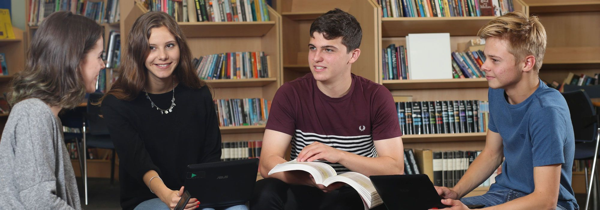 Sixth Form students in Learning Resource Centre