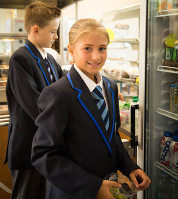 Pupils in The Maelor School canteen