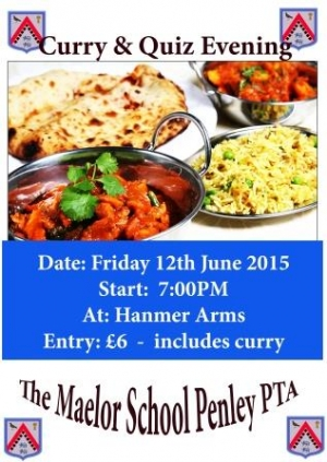 PTA Curry & Quiz Evening
